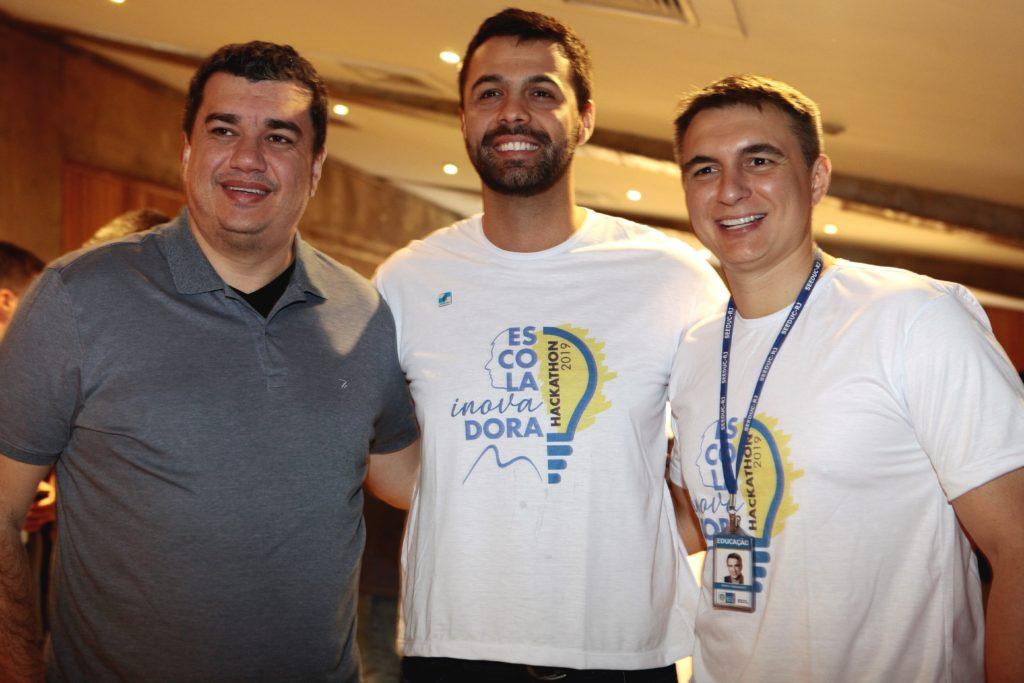 Os Secretários Leonardo Rodrigues, Ruan Lira e Pedro Fernandes