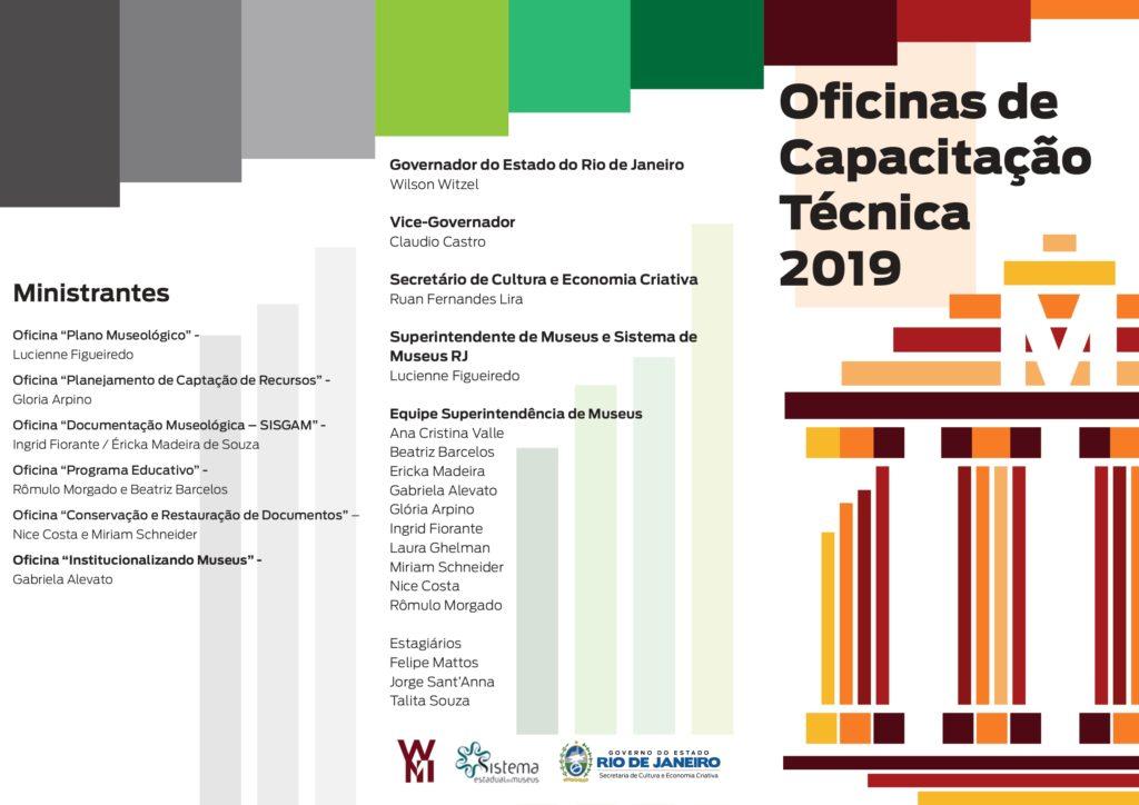 Folder das Oficinas de Capacitação Técnica em Museologia