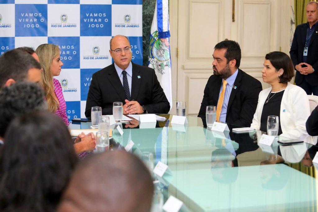 Governador Wilson Witzel anuncia patrocínio para o Réveillon no Salão Nobre do Palácio Guanabara